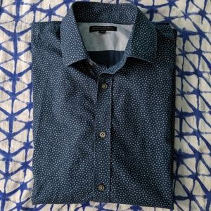 Banana Republic Navy Men's Shirt Size M Slim